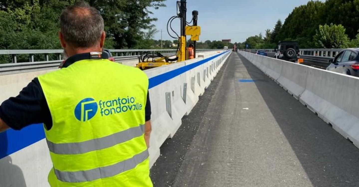 Installazione nuove barriere spartitraffico – Anas Spa